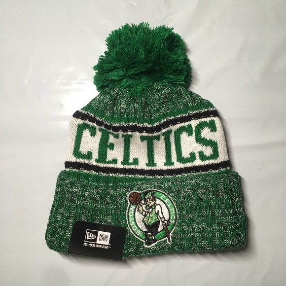 5e1596fc25f3d Boston Celtics beanie hat